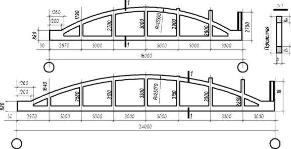 вариант для расчеты и строение железобетонной фермы пролетом 24 метра условиях повышенной влажности