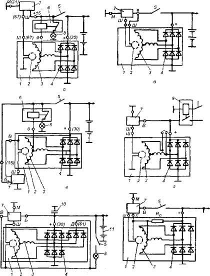 Схема генераторных установок с