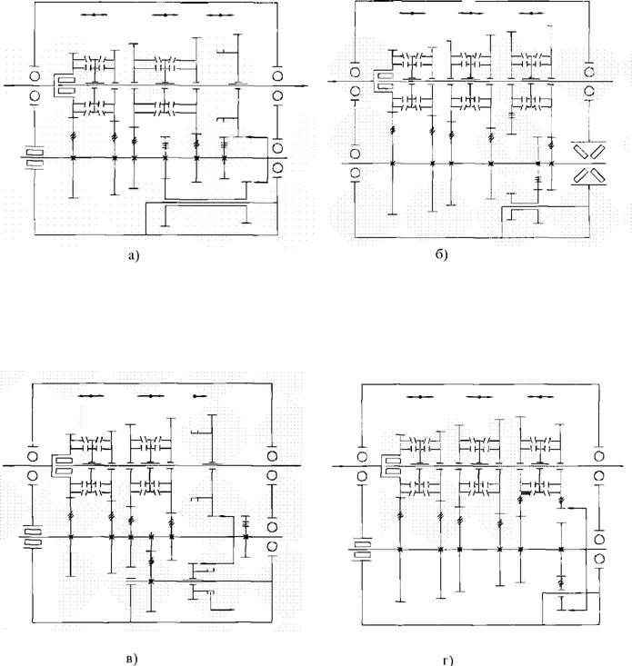 Схемы пятиступенчатых коробок